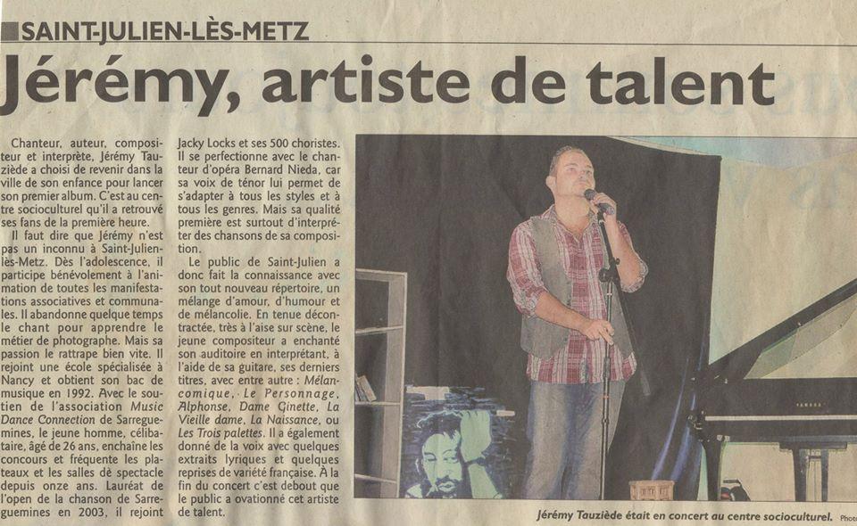 """02 septembre 2012 : Première du """"Mélancomique part en live"""" à Saint julien les Metz"""